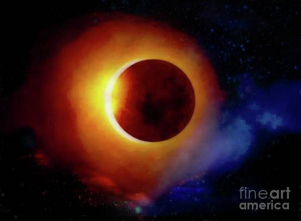 Photograph - The Total Eclipse by John Kolenberg