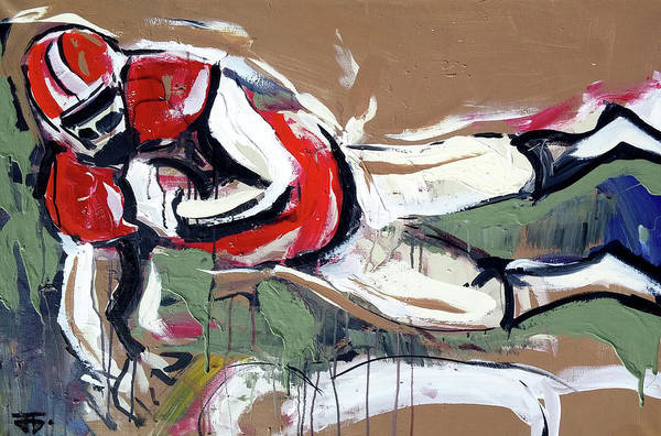 Painting - The Touchdown by John Jr Gholson