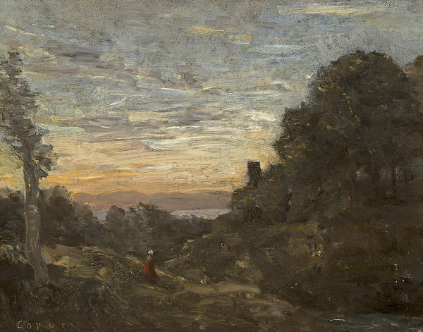 Painting - The Tower In The Trees by Jean-Baptiste-Camille Corot