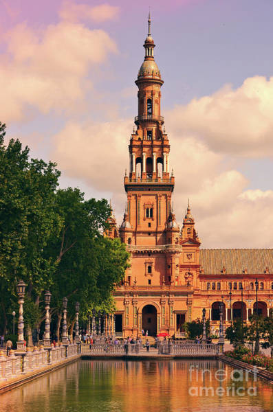 Wall Art - Photograph - The Tower - Plaza De Espana by Mary Machare