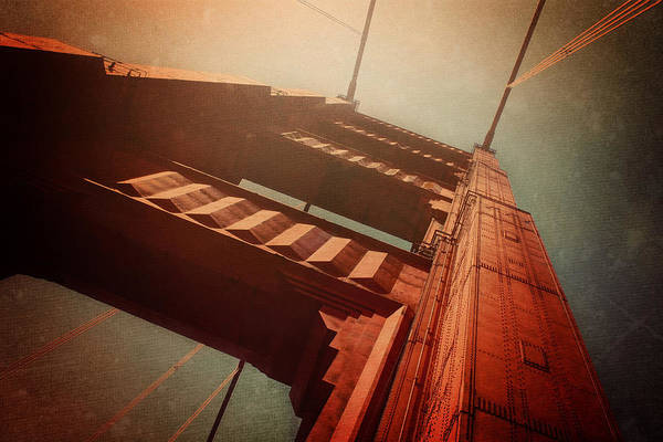 Man Of Steel Wall Art - Photograph - The Towering Golden Gate by Carol Japp