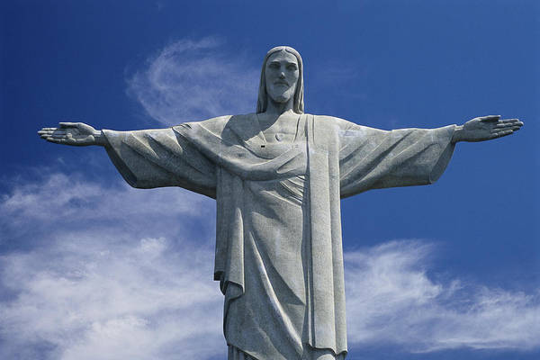 Redeemer Wall Art - Photograph - The Towering Statue Of Christ by Richard Nowitz