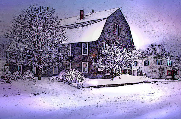 Digital Art - The Town Hall In Reading Vermont by Nancy Griswold