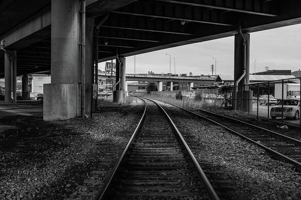 Photograph - The Tracks And The Overpass by Break The Silhouette