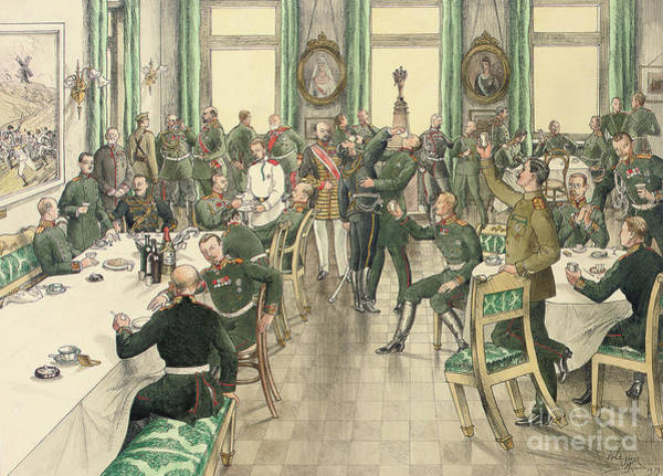 Annual Painting - The Traditional Breakfast Held To Commemorate The Battle Of Telish by Boris V de Heroys