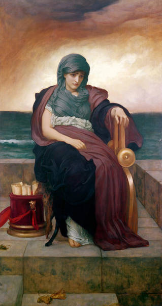 Gloomy Painting - The Tragic Poetess by Frederic Leighton