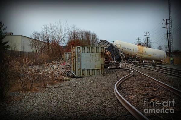 Train Derailment Photograph - The Train Wreck  by Paul Ward