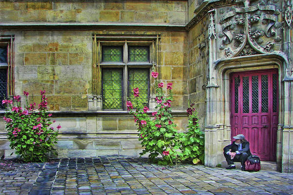 Cours Photograph - The Traveler - Cluny Museum - Paris by Nikolyn McDonald