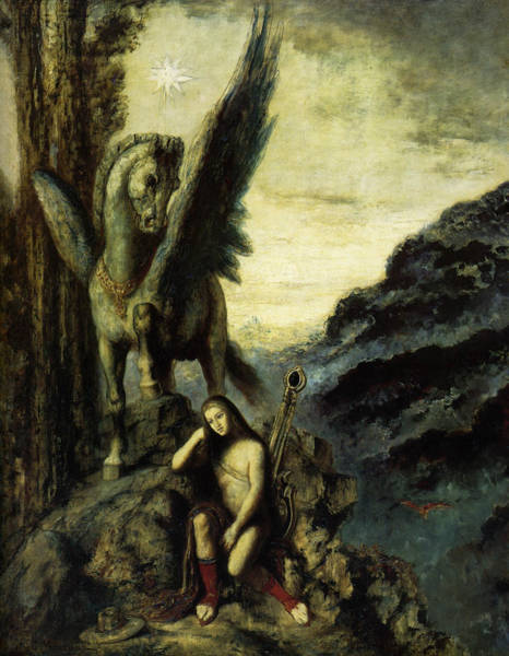 Painting - The Traveling Poet by Gustave Moreau
