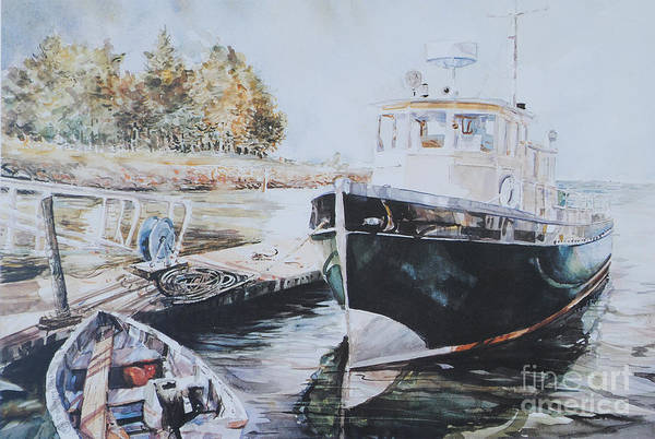 Painting - The Trawler Crosby by P Anthony Visco