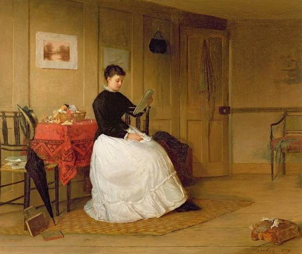 1879 Painting - The Treasured Volume by Harry Brooker