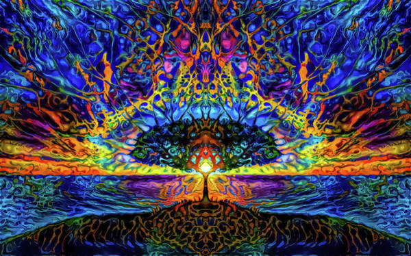 Primary Colors Mixed Media - Magical Tree And Sun by Lilia D