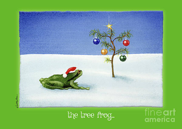 Painting - The Tree Frog... by Will Bullas
