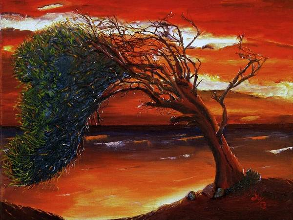 Single Leaf Mixed Media - The Tree by Maria Woithofer