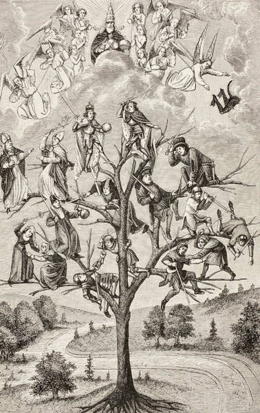 Allegorical Figure Drawing - The Tree Of Battles. Allegorical by Vintage Design Pics