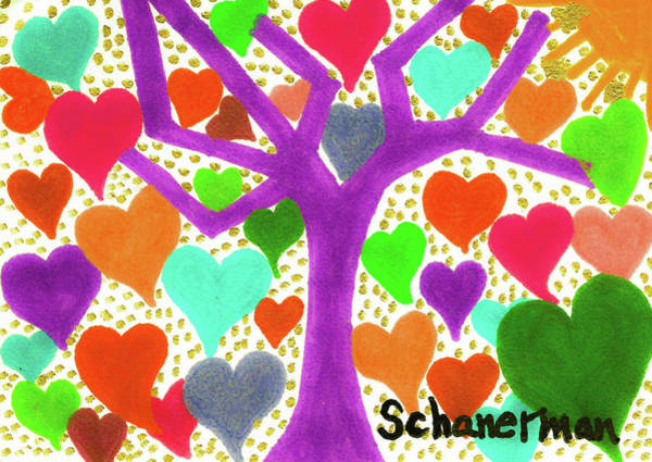 Drawing - The Tree Of Love by Susan Schanerman