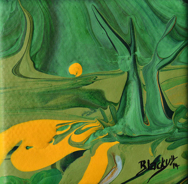 Wall Art - Painting - The Trees Have Gone Silent by Donna Blackhall