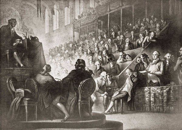 Wall Art - Drawing - The Trial Of Louis Xvi At The National by Vintage Design Pics