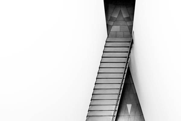 Stairs Wall Art - Photograph - The Triangular Tile by Gerard Jonkman