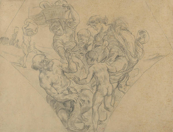 Drawing - The Tribute Money by Eugene Delacroix