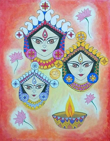 Magnificence Painting - The Trinity by Sonia A