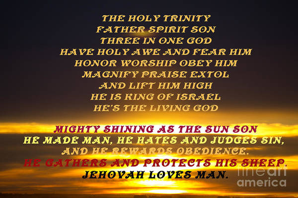Photograph - The Trinity Sunrise by Donna L Munro
