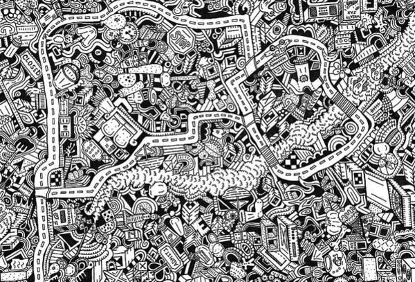 Wall Art - Drawing - The Trip by Chelsea Geldean