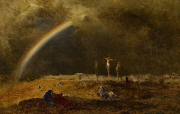 Mourning Painting - The Triumph At Calvary by George Inness