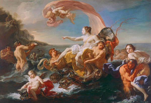 Painting - The Triumph Of Galatea by Corrado Giaquinto