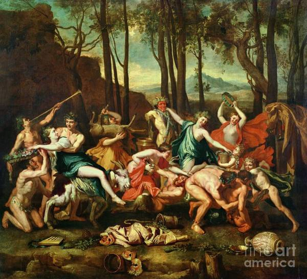 1665 Wall Art - Painting - The Triumph Of Pan by Nicolas Poussin