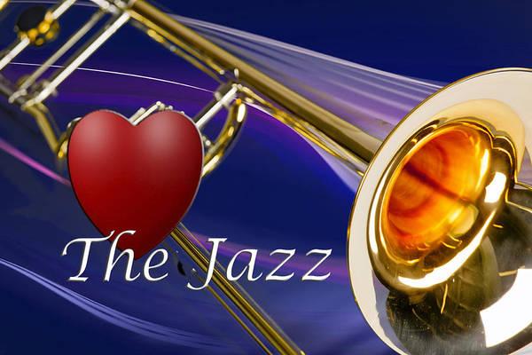 Photograph - The Trombone Jazz 001 by M K Miller