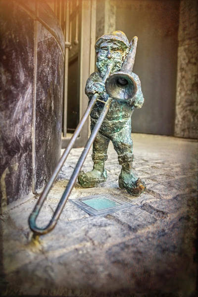 Goblin Photograph - The Trombone Player Wroclaw Poland  by Carol Japp