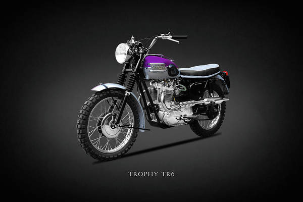Wall Art - Photograph - The Trophy Tr6 Motorcycle by Mark Rogan
