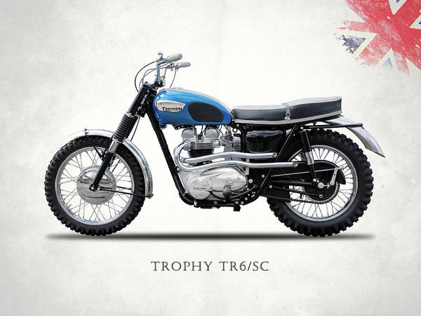 Wall Art - Photograph - The Trophy Tr6 Sc Motorcycle by Mark Rogan