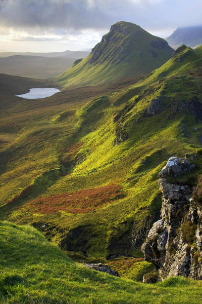 Skye Photograph - The Trotternish Hills From The Quiraing Isle Of Skye by John McKinlay