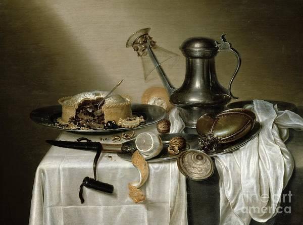 Plate Painting - The Truffle Pie by Maerten Boelema de Stomme