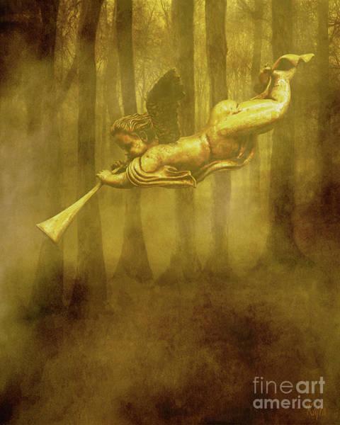 Trumpet Mixed Media - The Trumpet Sounds by KaFra Art