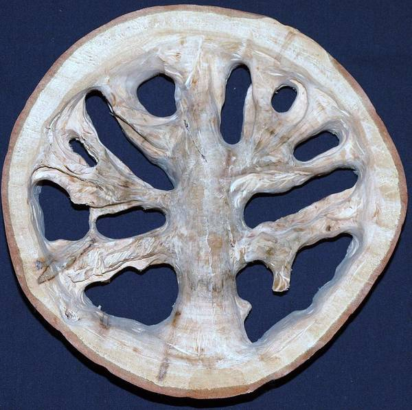 Axeman Wall Art - Sculpture - The Trunk In Time by Robert Margetts