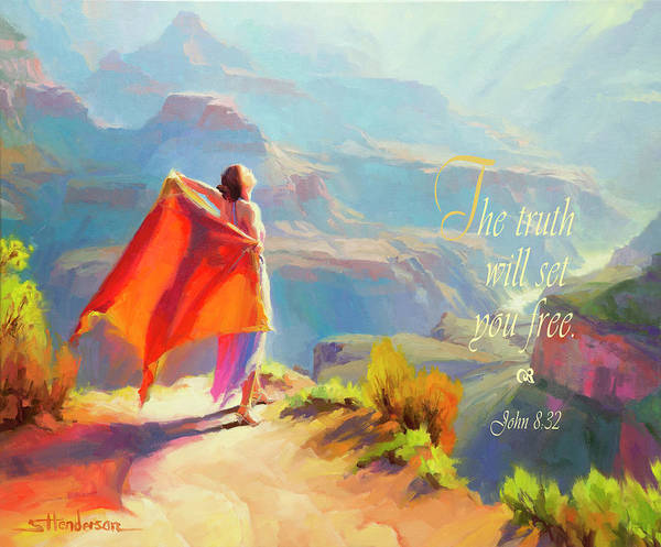 Hiking Digital Art - The Truth Will Set You Free by Steve Henderson