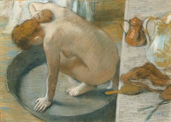 Tub Wall Art - Pastel - The Tub by Edgar Degas