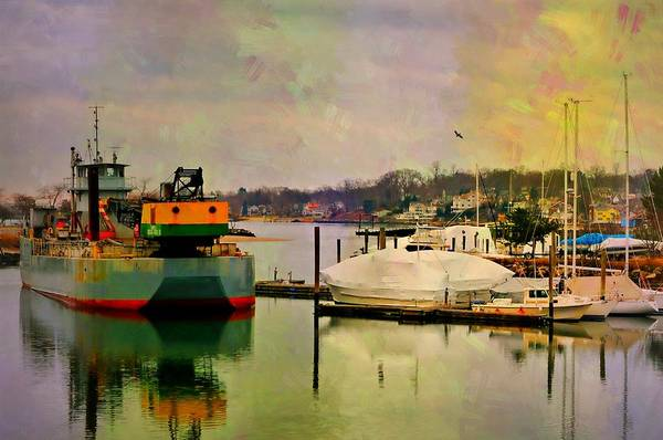 Stamford Photograph - The Tug Boat by Diana Angstadt