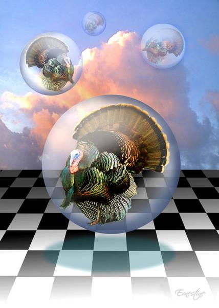 Thanksgiving Digital Art - The Turkeys Have Landed by Ernestine Grindal