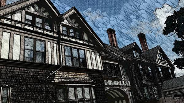 Mansion Mixed Media - The Tudor House by Stacie Siemsen