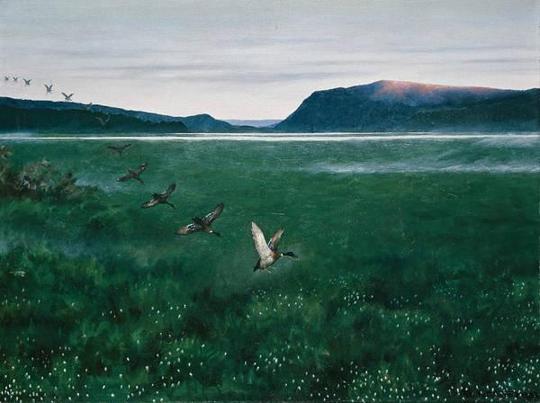 Painting - The Twelve Wild Ducks by Theodor Kittelsen