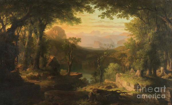 Awakening Painting - The Twilight In The Wilderness by Thomas Pritchard Rossiter