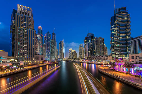 Skyline Wall Art - Photograph - The Twilights Dubai by Vinaya Mohan