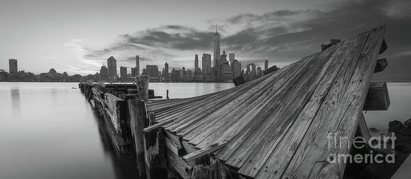 Wall Art - Photograph - The Twisted Pier Panorama Bw by Michael Ver Sprill