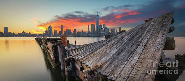 Lower Manhattan Photograph - The Twisted Pier Panorama by Michael Ver Sprill