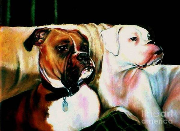 Painting - Two Dogs by Georgia's Art Brush