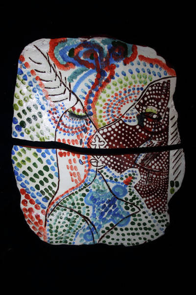 Ceramic Art - The Two Hearts by Gloria Ssali